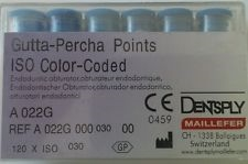 Gutta Percha Points 194 Size 30 Dentsply Maillefer Iso Color